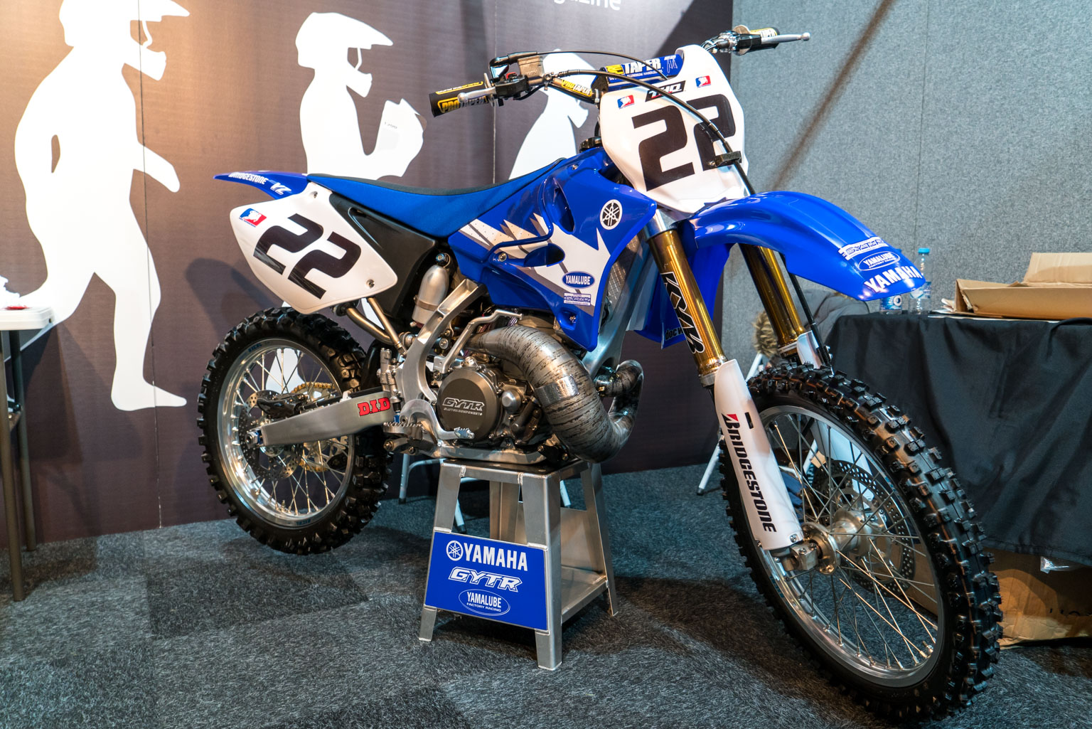 Chad Reed's YZ250 is on the MotoHead stand