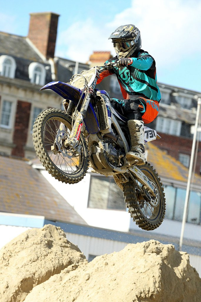 Jake Shipton leaps to victory on his new Yamaha