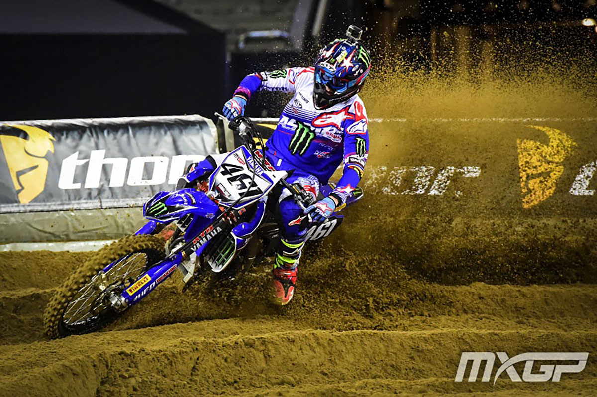 Febvre was leading overall until the final moto but fell