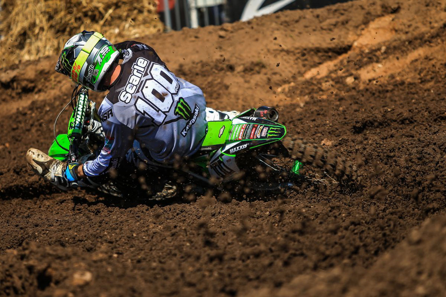 Tommy Searle is flying the flag for Britain and Kawasaki