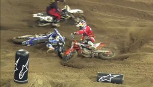 Febvre fell and wiped Herlings out
