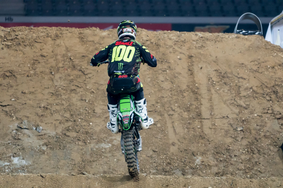 Tommy Searle is looking fast on his KXF