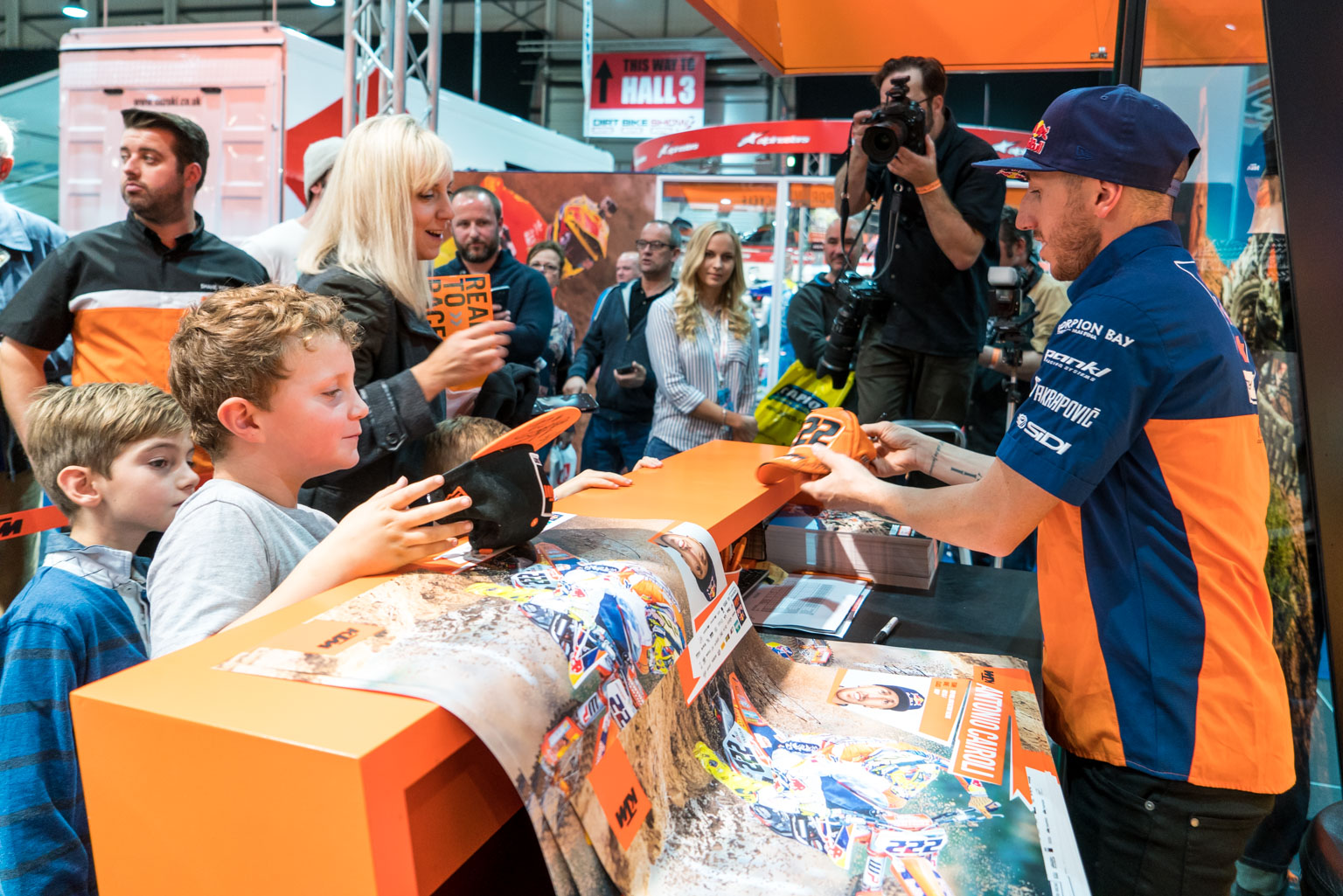 Cairoli signs for the fans at Stoneleigh