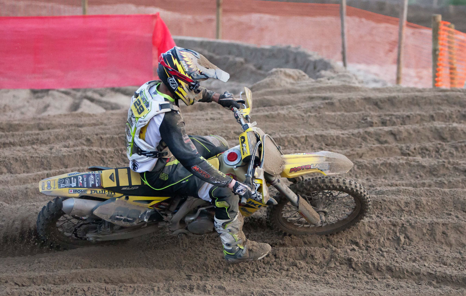 Steven Lenoir out on the Suzuki