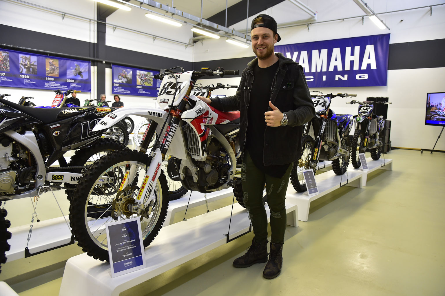 Jeremy Van Horebeek and his works bike