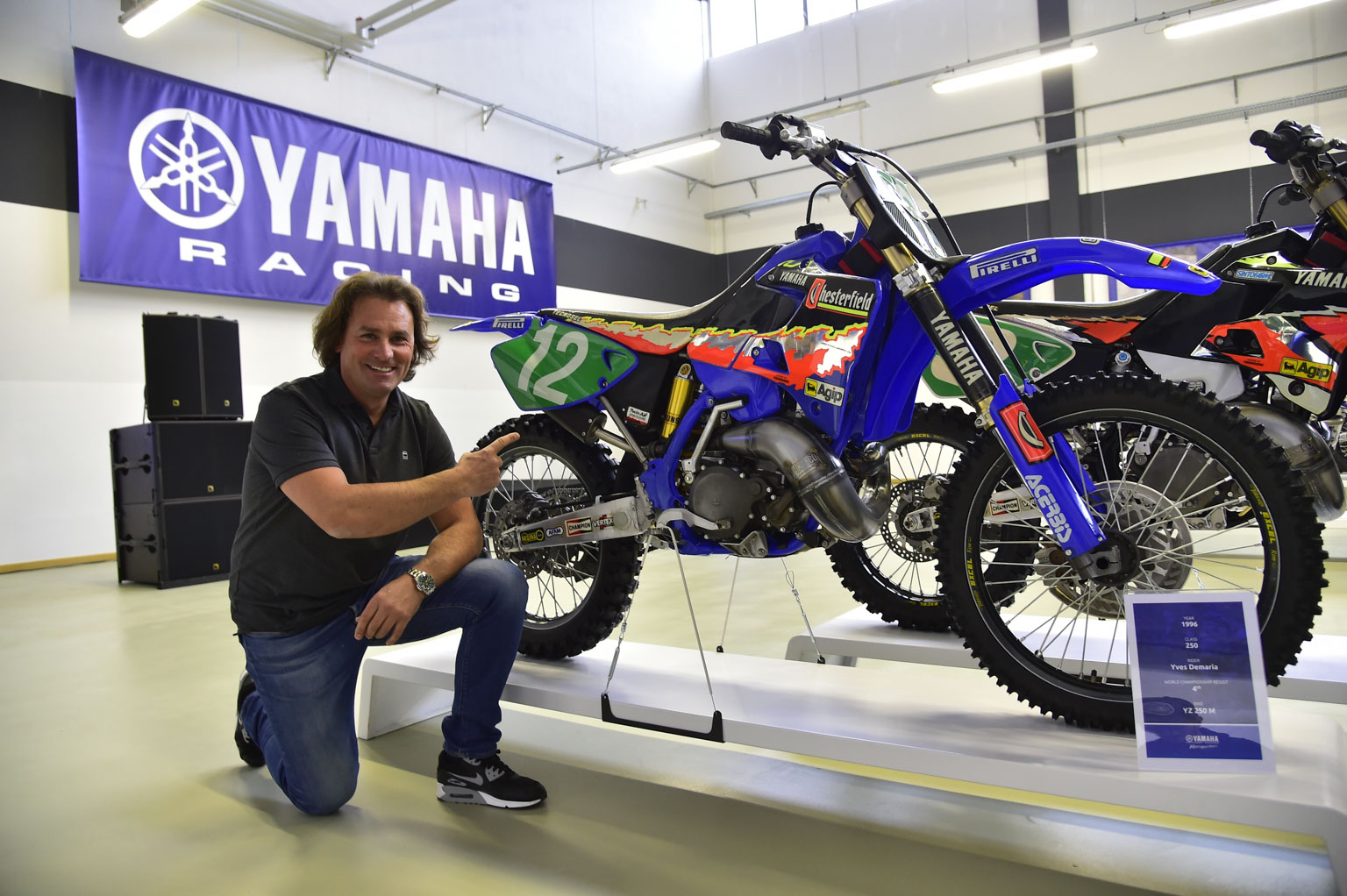Yves Demaria and his bike