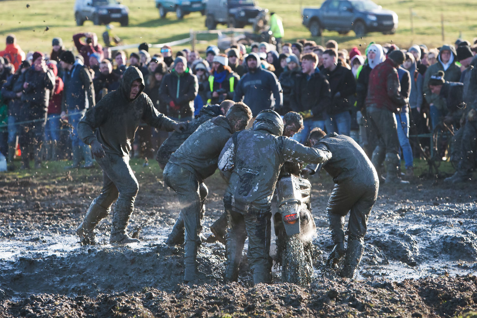 Always a muddy mess at the Woolly!