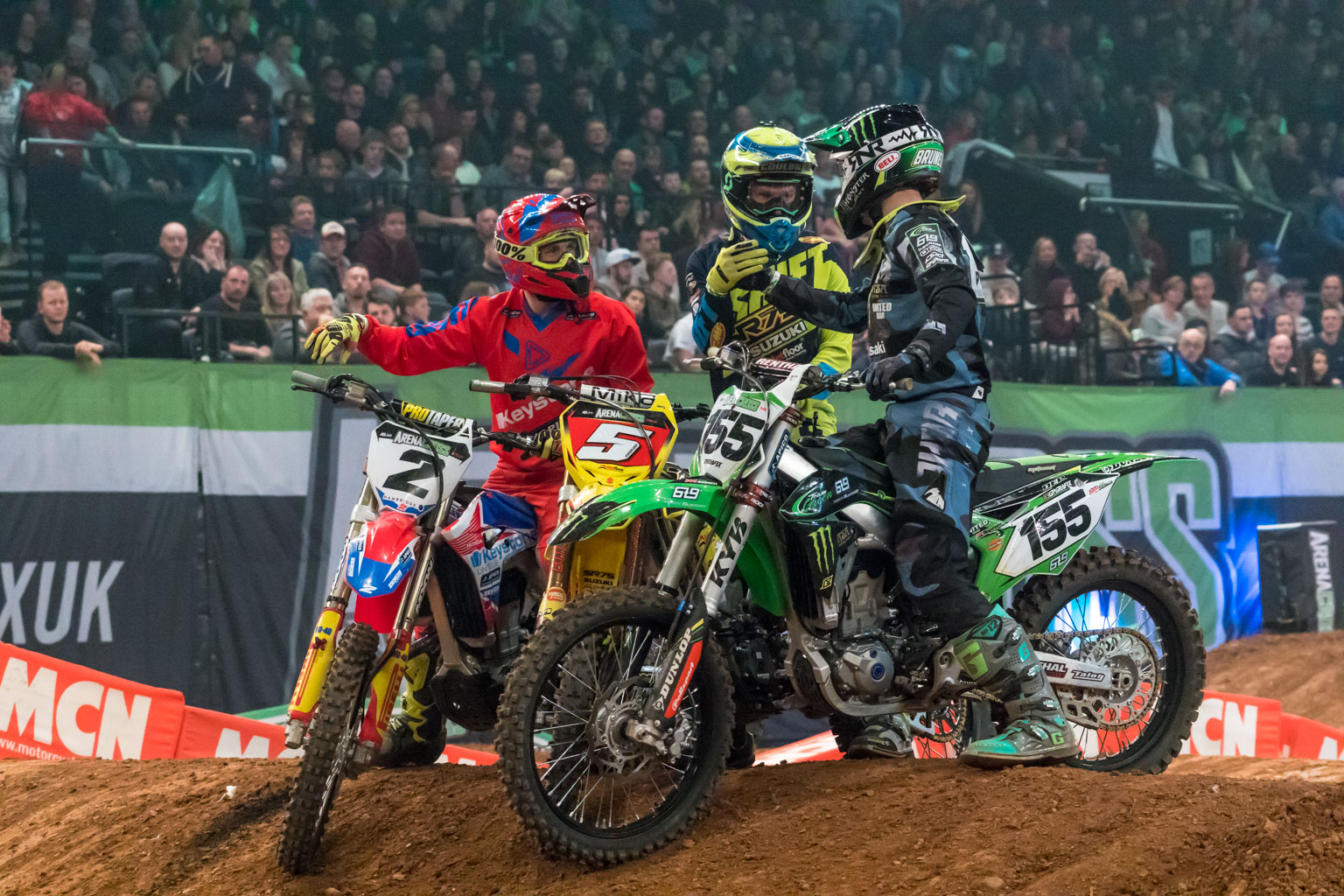 The action and emotion form riders and fans is electric in Arenacross