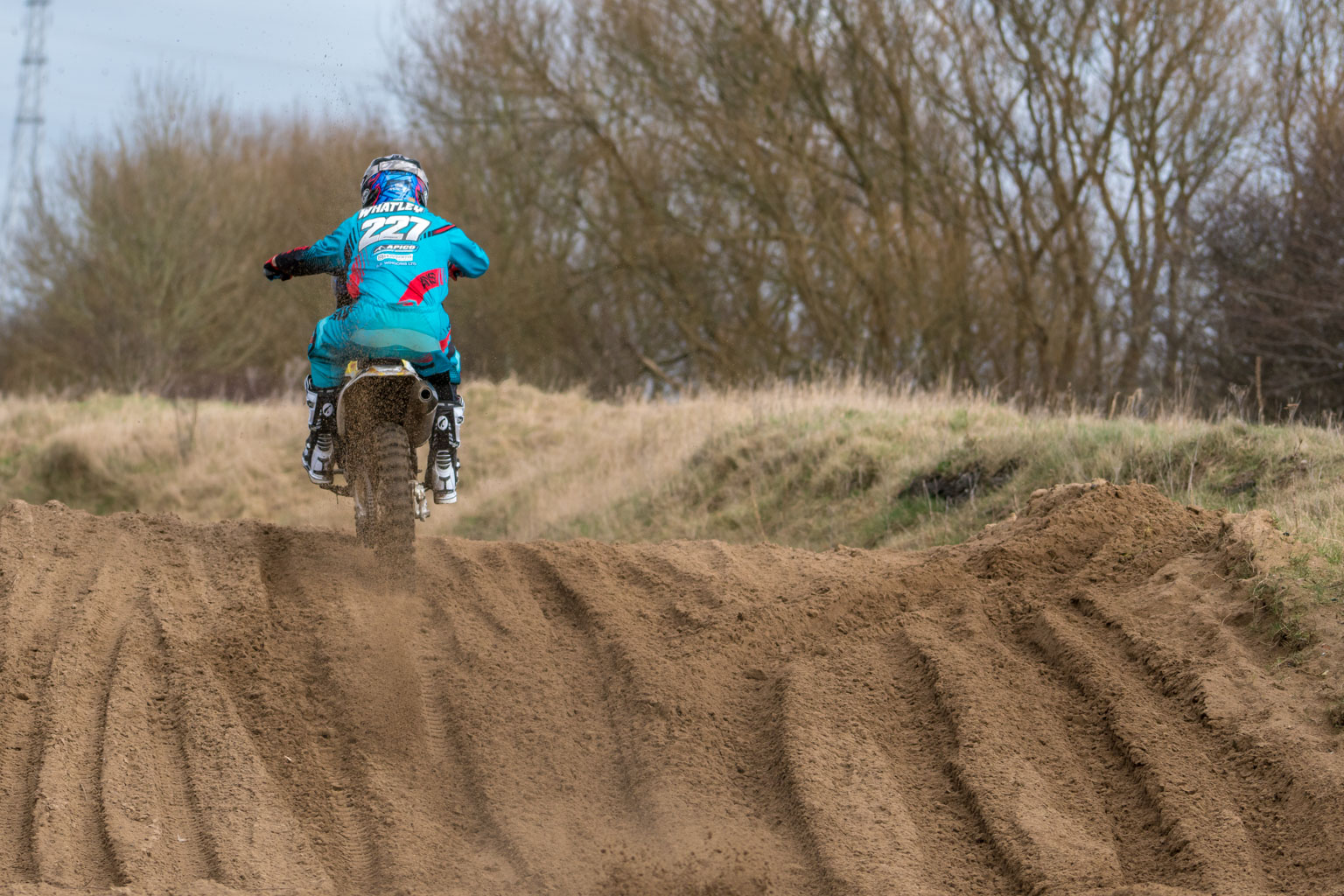 Whatley's been doing lots of sand riding to get ready for the British championship