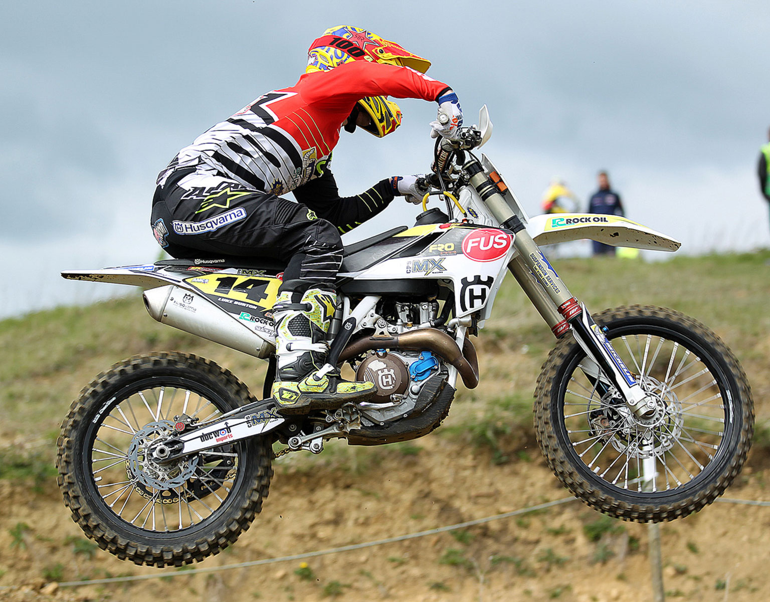 Luke Burton, the MX1 winner