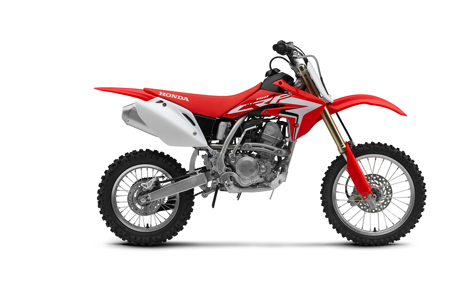 The CRF150 still as a steel frame