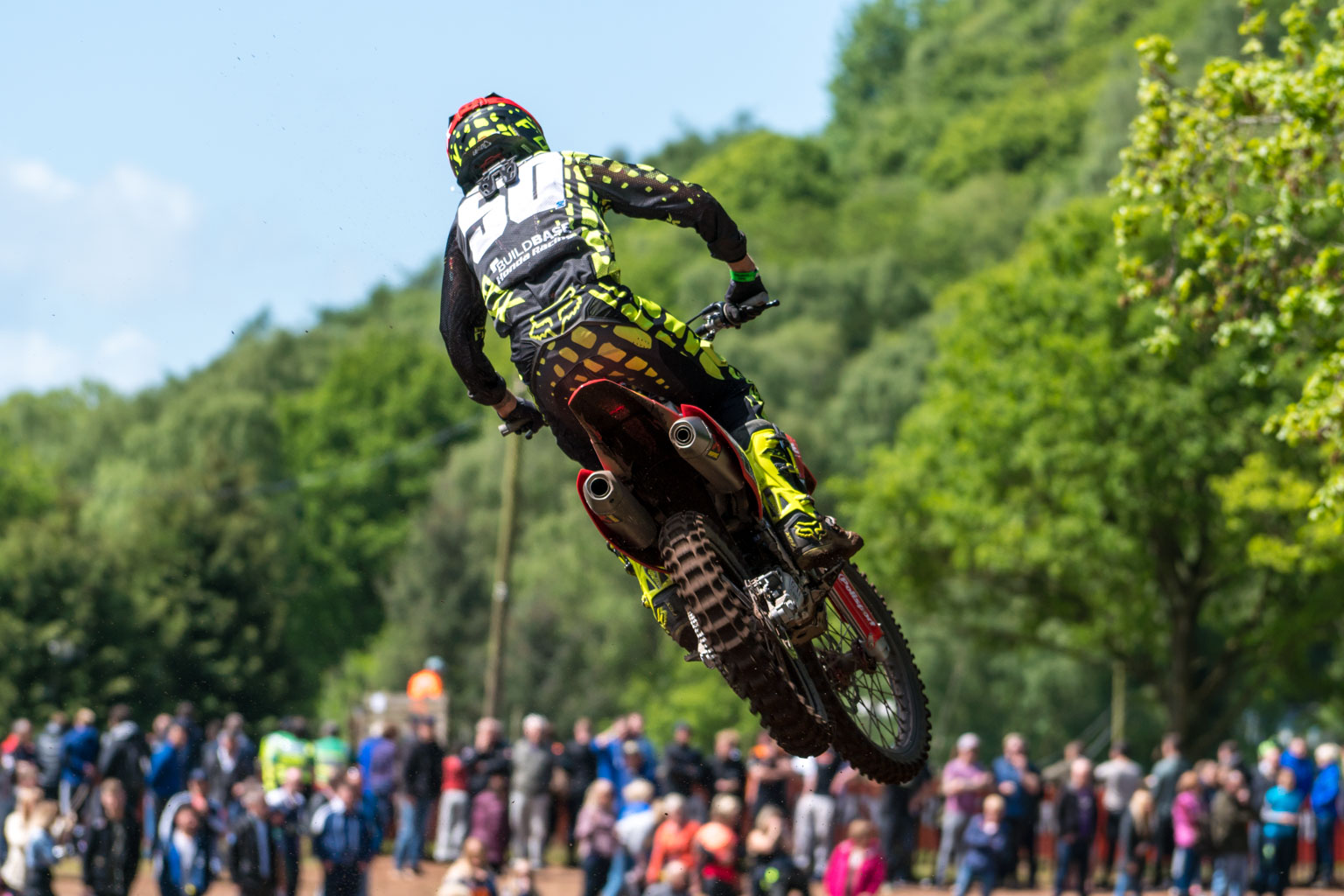 Martin Barr took third in MX2