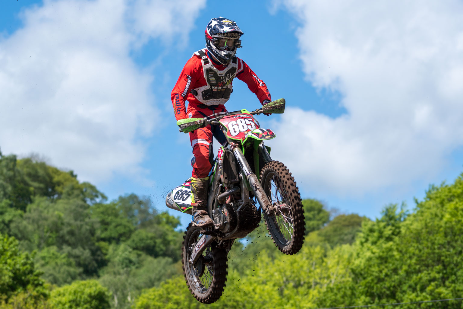 Steven Lenoir with the red plate at the last British round at Hawkstone