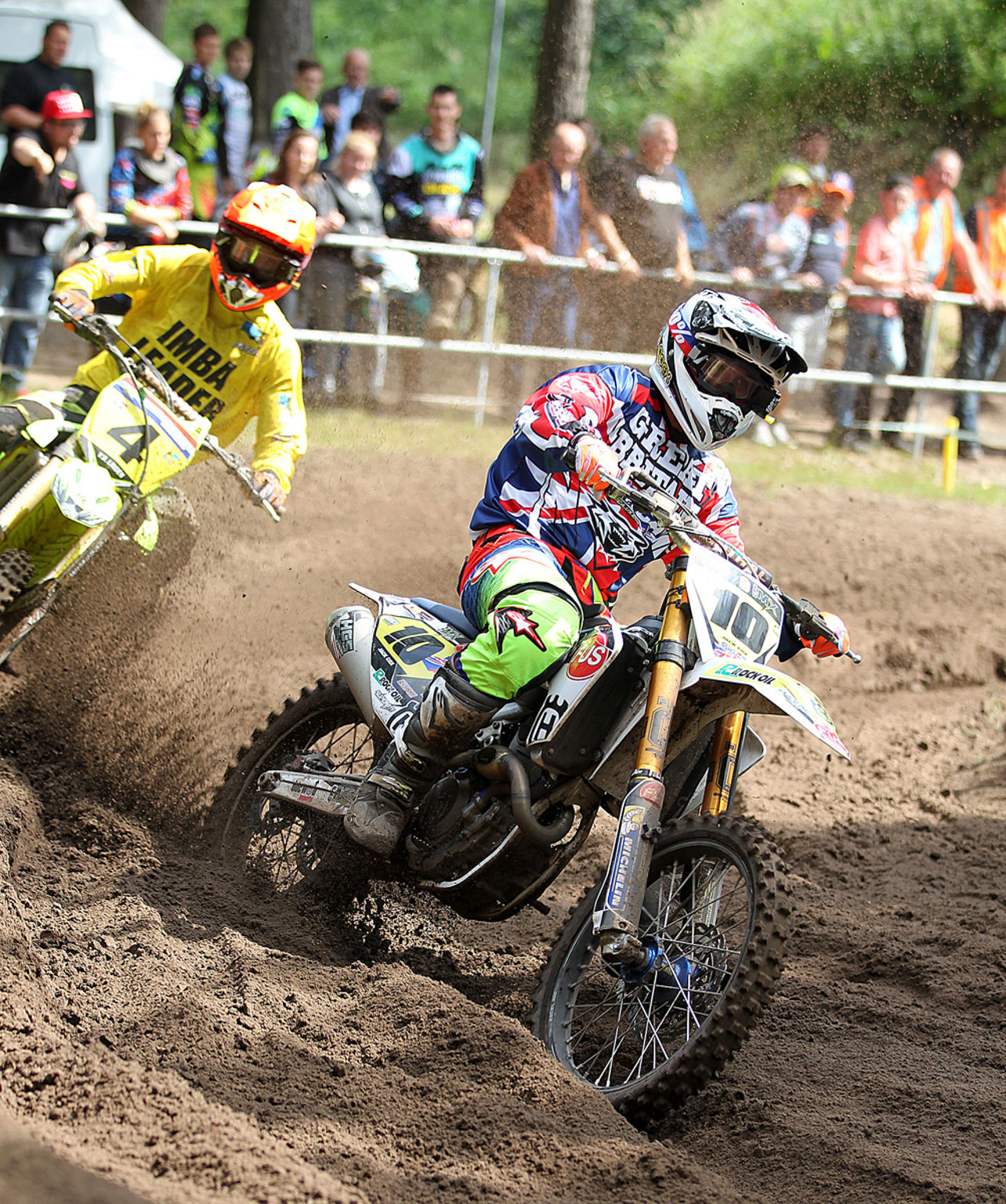 Jack Cox leading moto two
