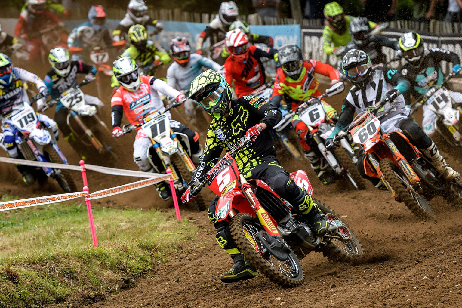 Irwin takes the holeshot