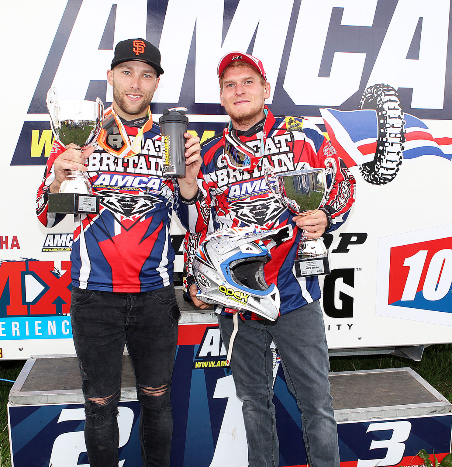 GB winners Luke Burton(MX1) and Ray Rowson(MX2)