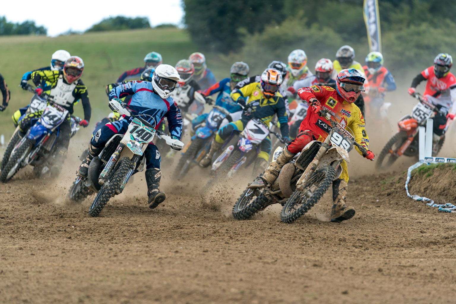Cody Ling leads the Faster moto