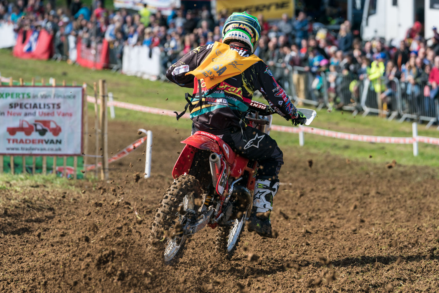 Nev Bradshaw won both Evo Nations motos