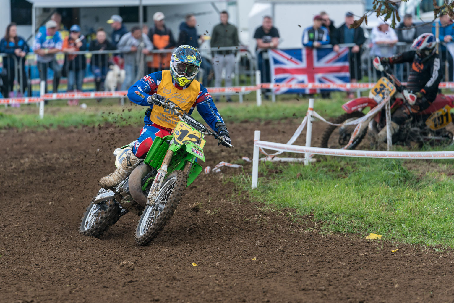 Tom Church was out on a KX500