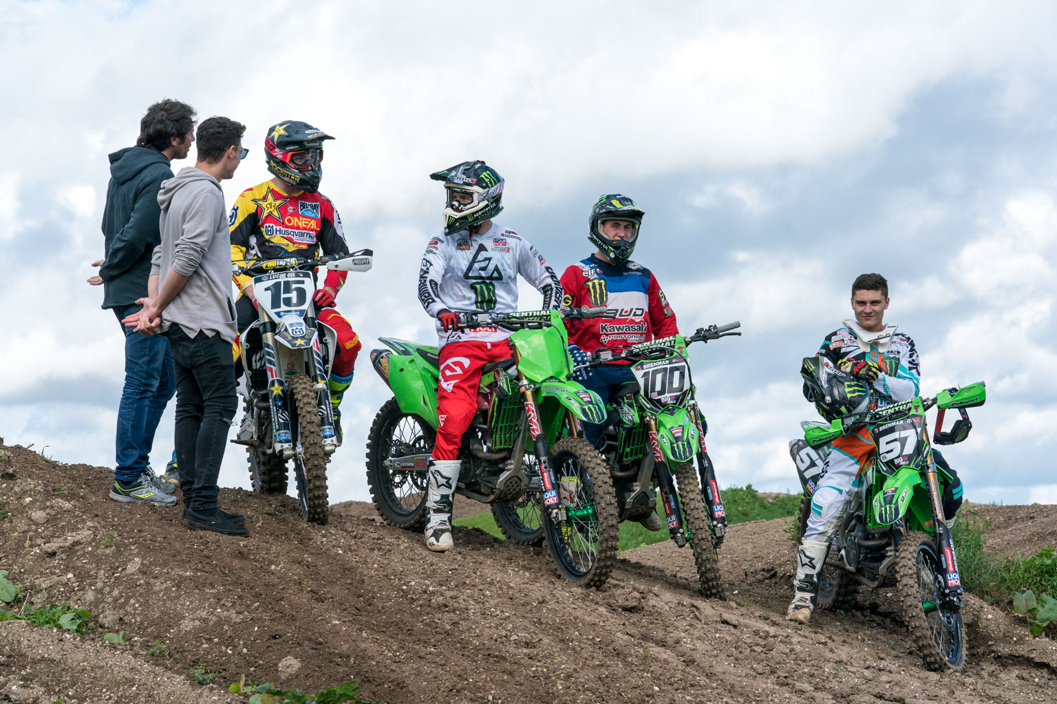 Wilson, Searle, Weltin and Sanayei were the luck ones who got to sample the track