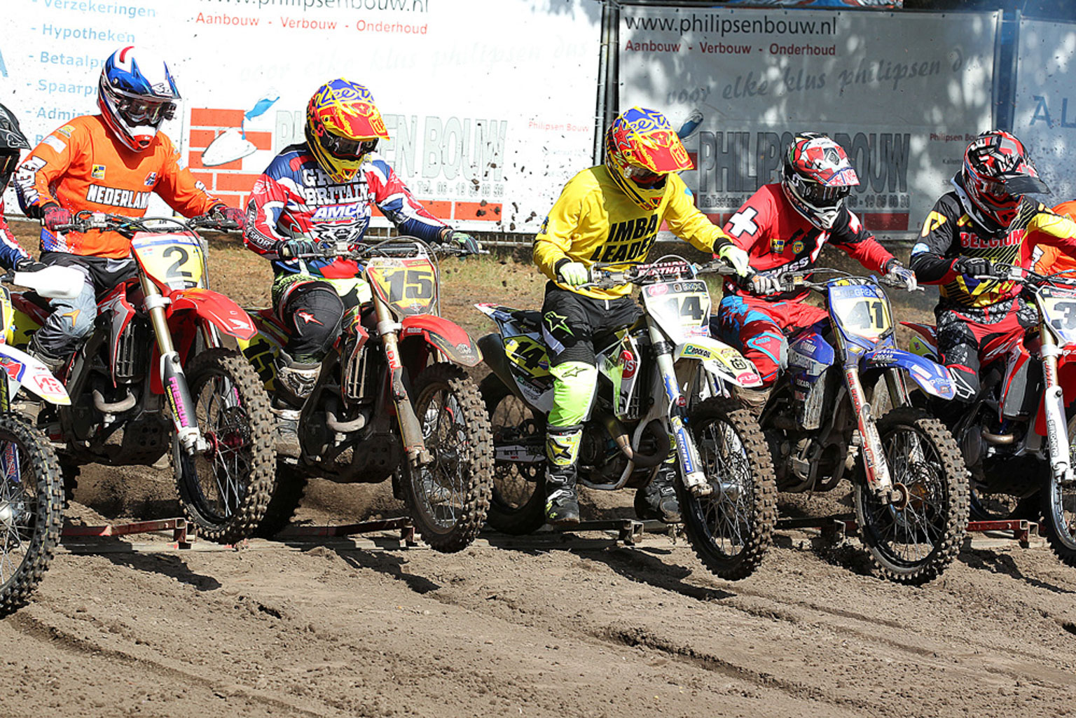 Moto one start action featuring Ed Briscoe(15) and Luke Burton(14)