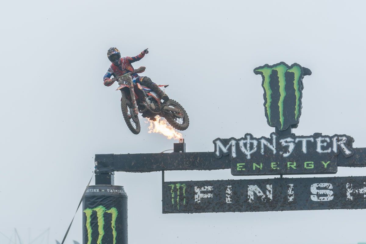 Herlings won the first MX Open race