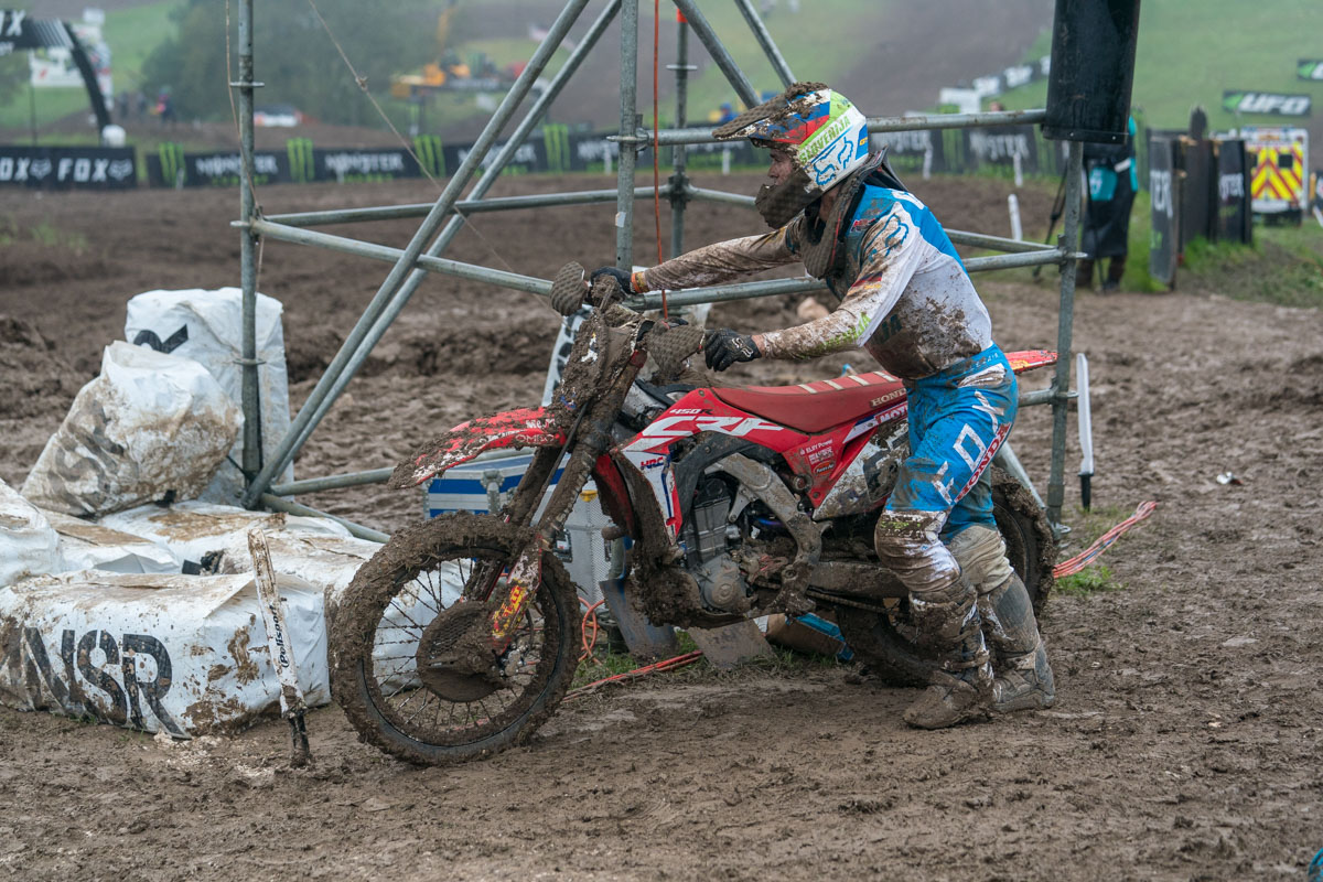 Gajser's bike expired in moto two