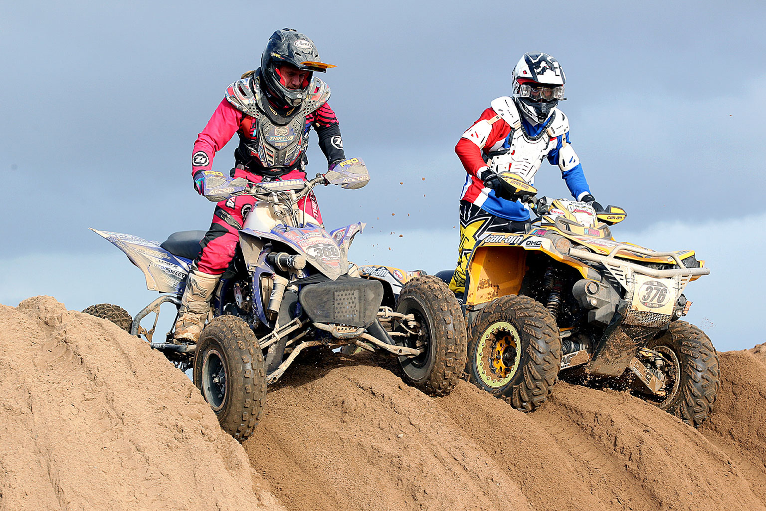 Eventual Quads winner Oliver Sansom(369) passes a rival last year