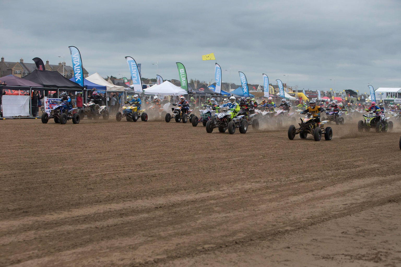 The start of the quads / sidecars