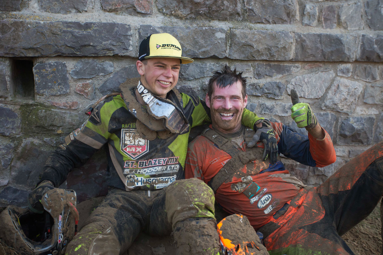 Todd Kellett (St Blazey Husqvarna) and David Knight (KTM) went one-two