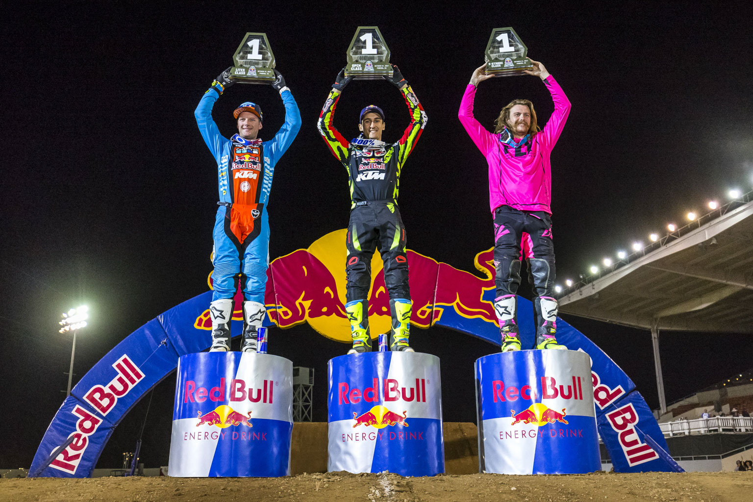 The class winners McElrath, Musquin and Stanke