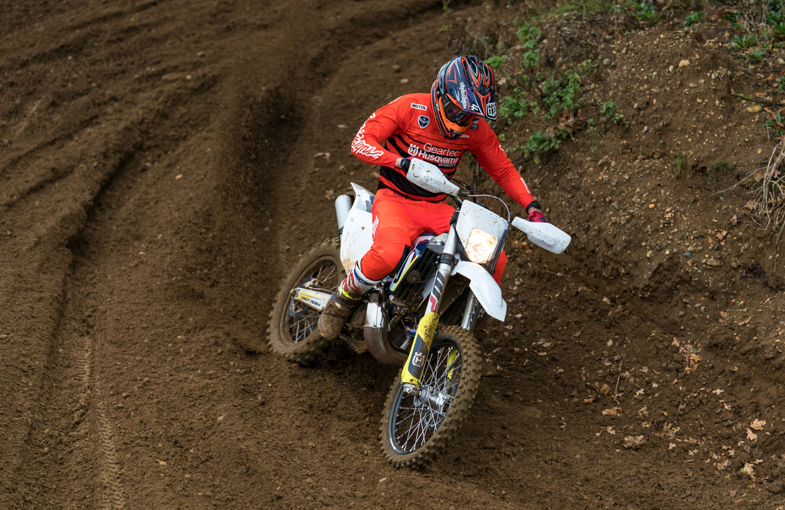Banks-Browne running in his new Husky 300 at the weekend