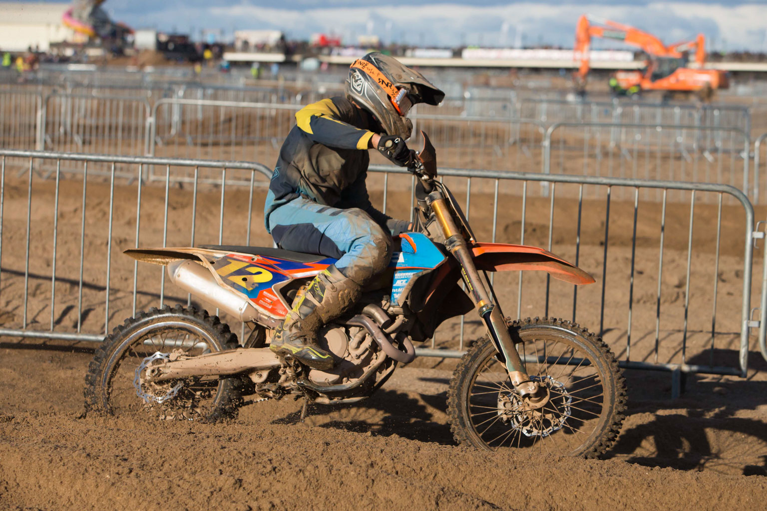 James Wainwright (KTM) on the gas