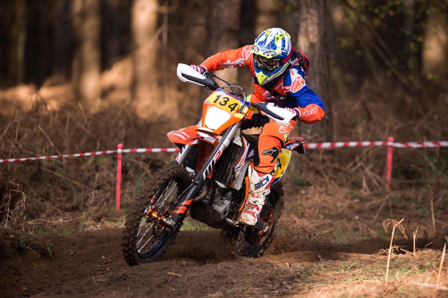 Ben Key (M&M Signs KTM) going quick