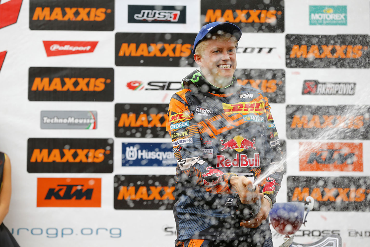Factory KTM rider Nathan Watson has won both French sand rounds. Pic KTM Images/ Future7 Media