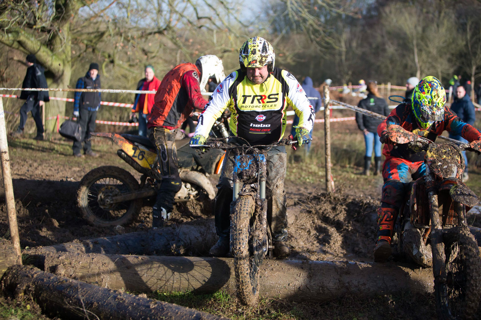 Pash Nash won the trials bike class once he'd stopped for a pit stop