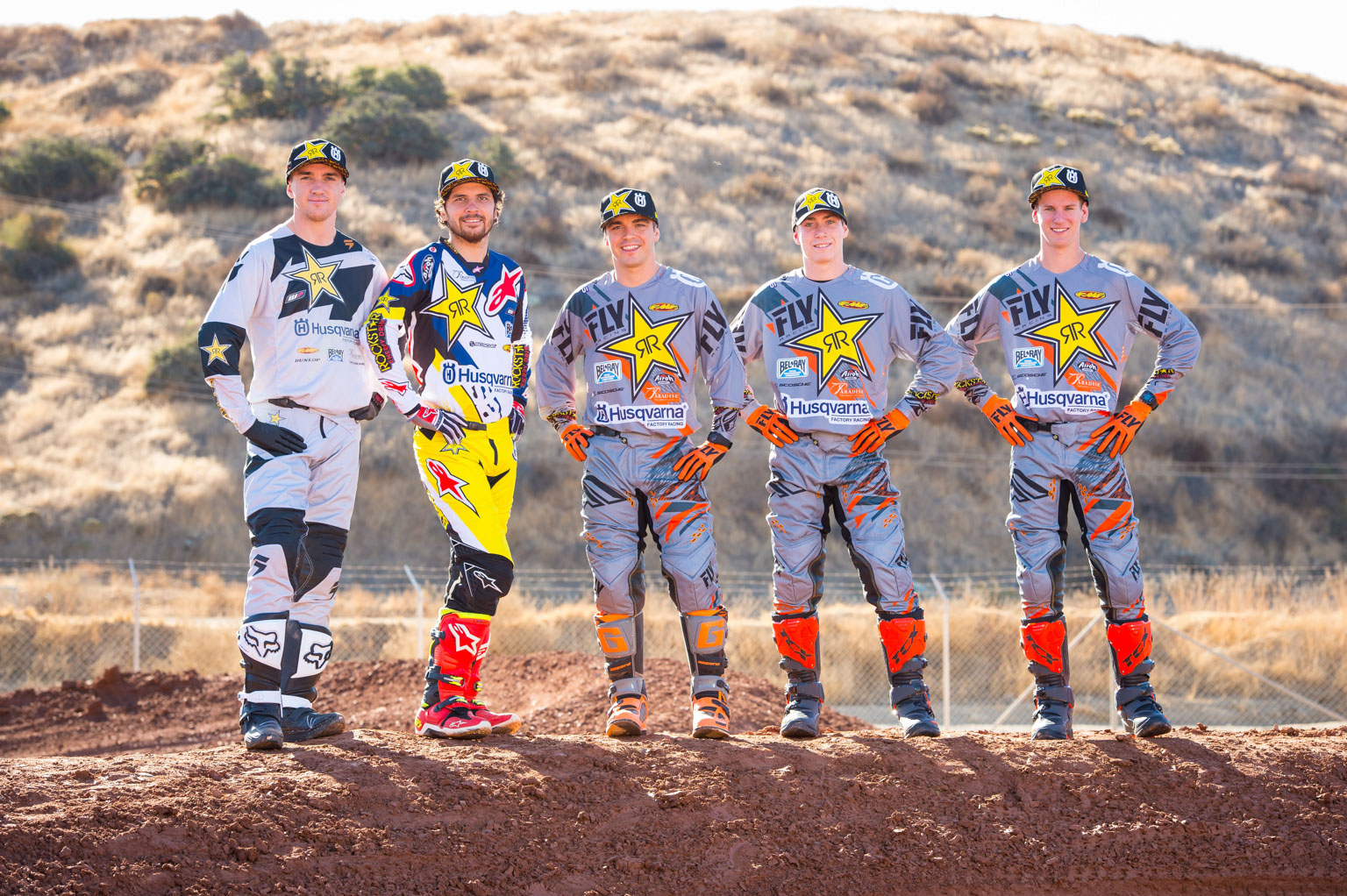 The Rockstar Energy Husqvarna Factory Racing 2018 AMA SuperCross Team -1
