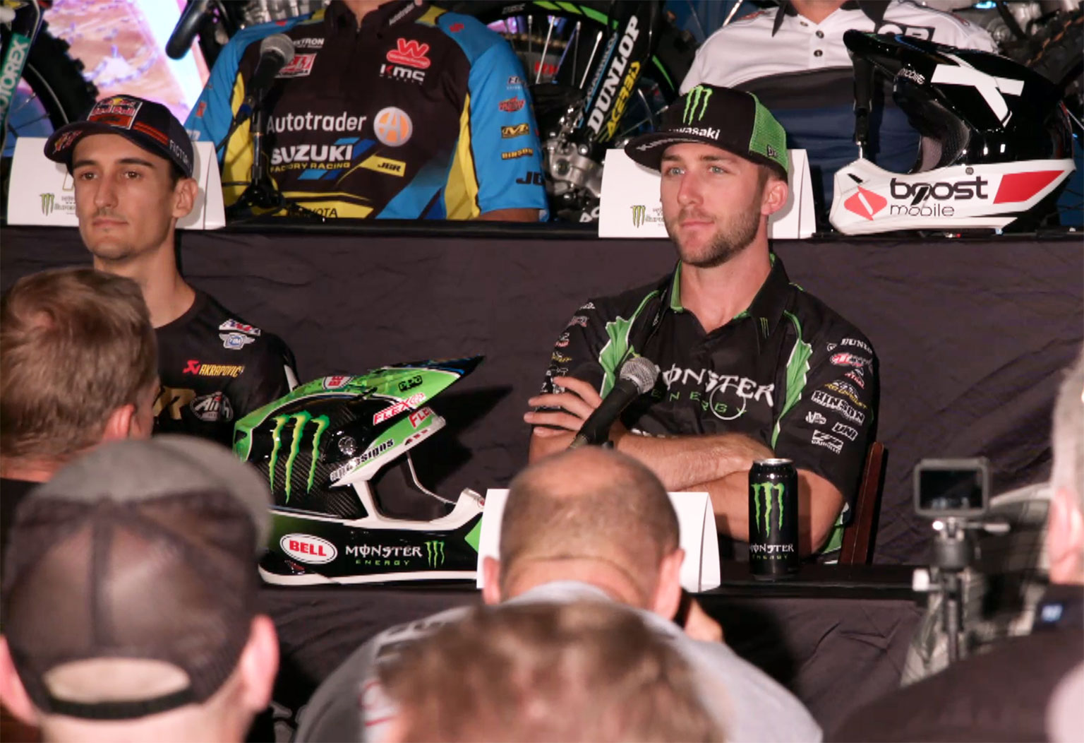 Tomac talks and Musquin listens