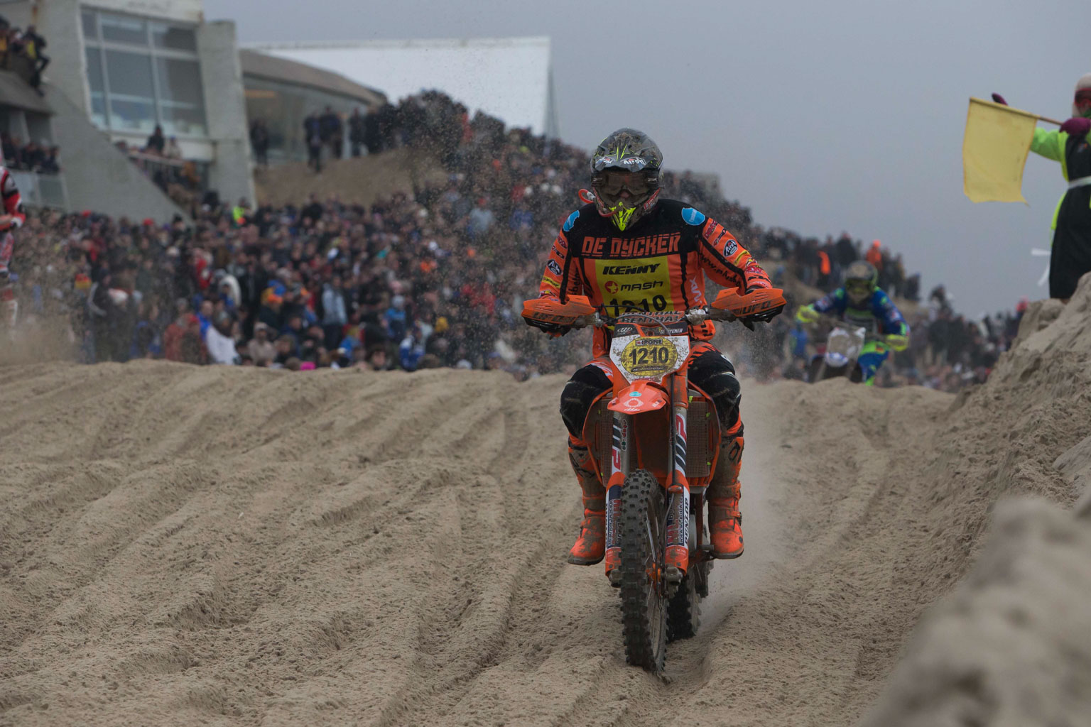 MXGP winner and ex British champ Ken De Dycker on his mighty KTM. He was fifth