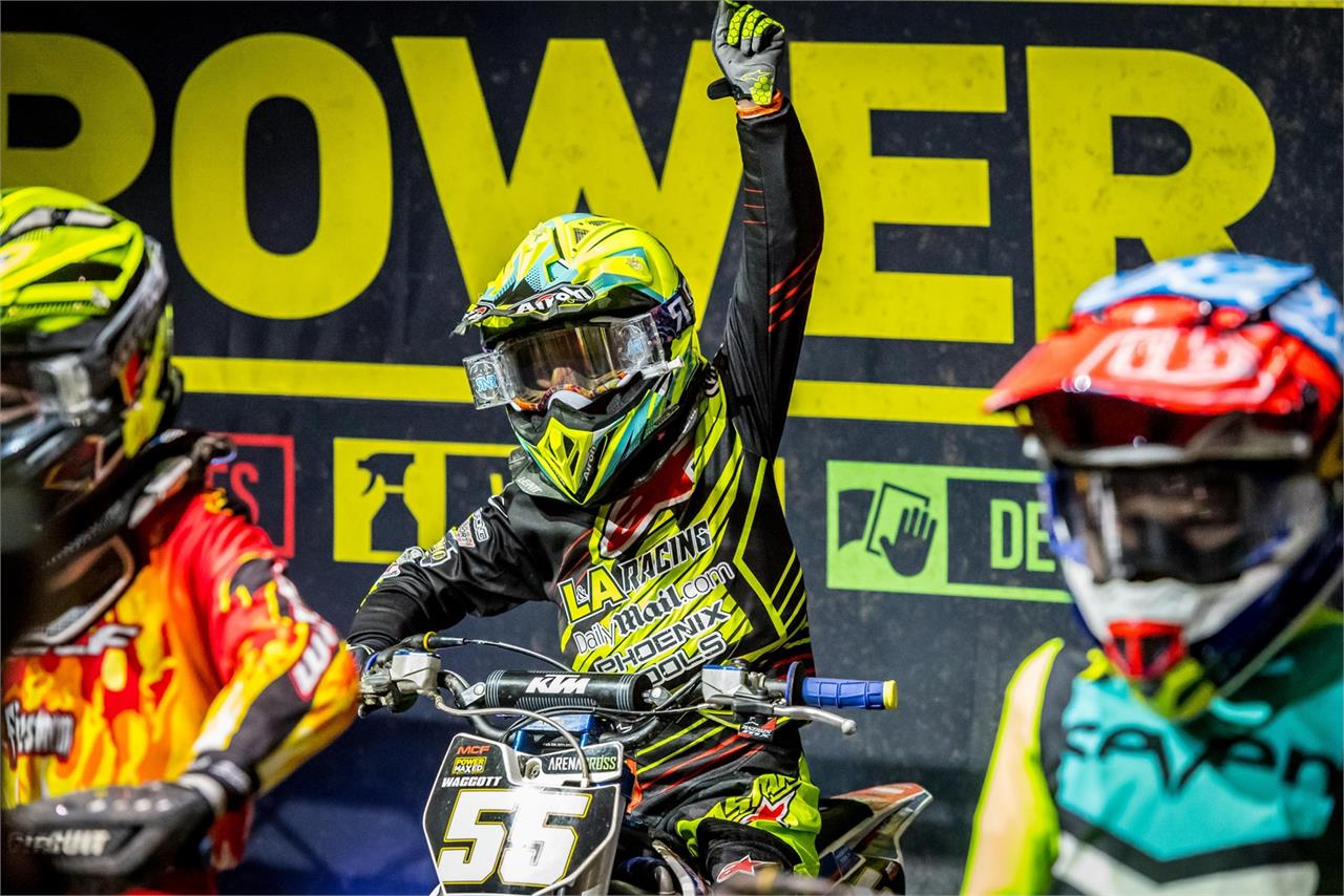 Ryan Waggott is contesting his first-ever Arenacross; he's looking for the support of his home crowd at Newcastle