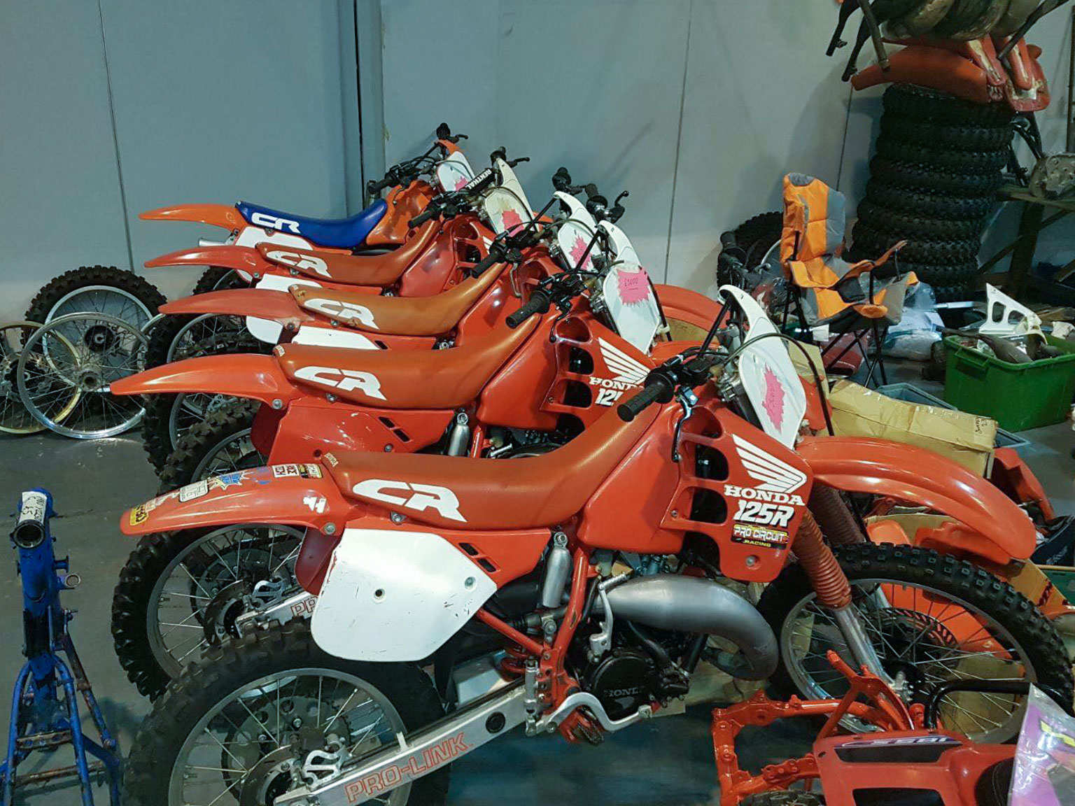 Lots of 1980s Honda CRs for sale
