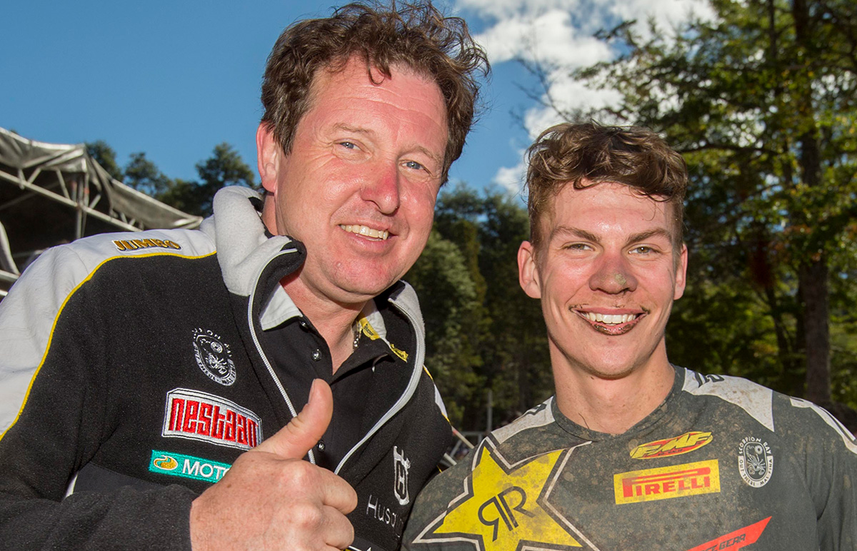 Martens with his latest protege Olsen. He's also coached riders like Jordi Tixier and Jeffrey Herlings!