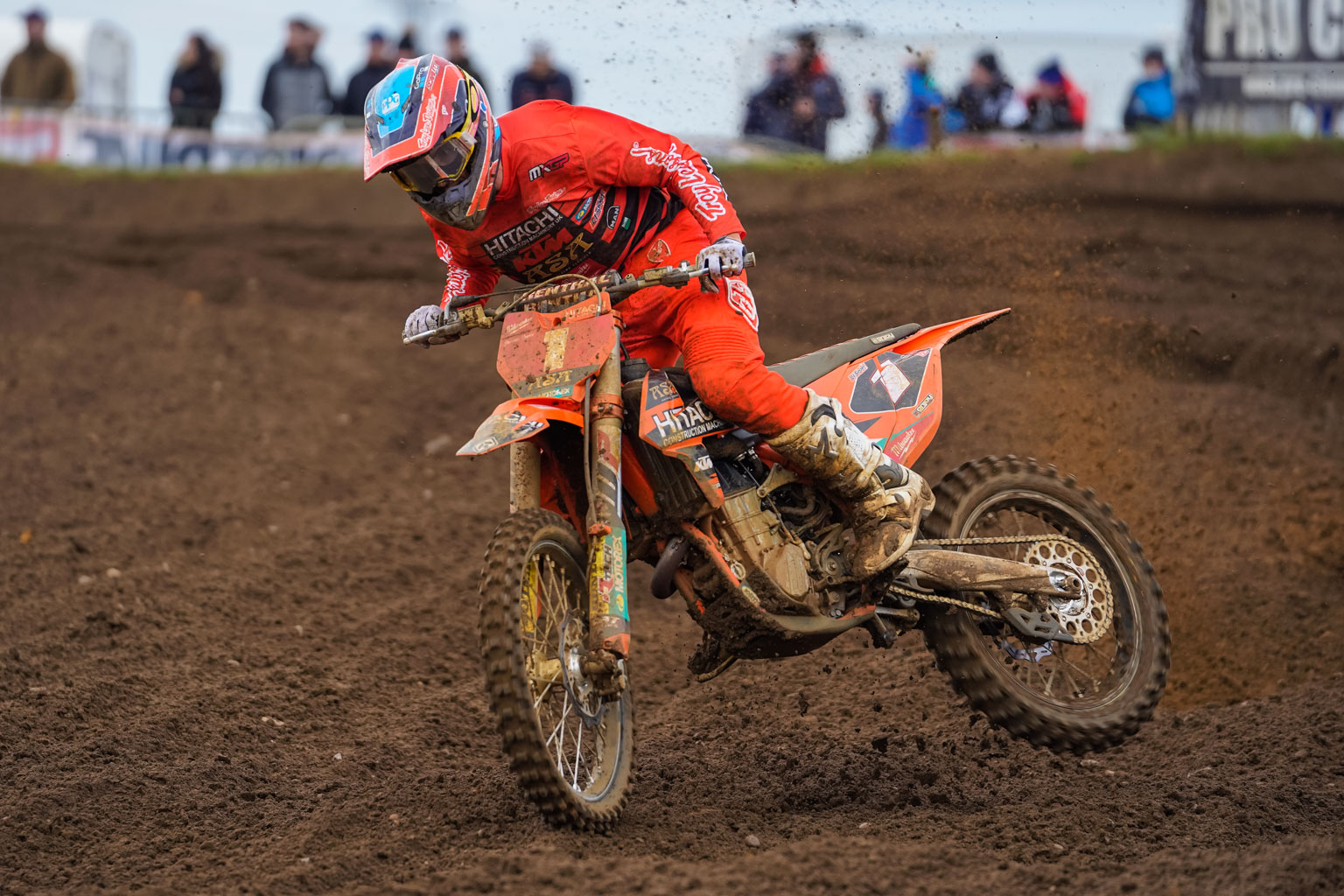 Champion Graeme Irwin gets an almighty kick coming out of a Culham bend. He stayed on and took the overall