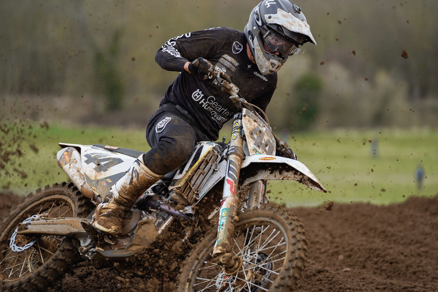 Check out the focus in Elliott Banks-Browne's eyes as he leads the second moto
