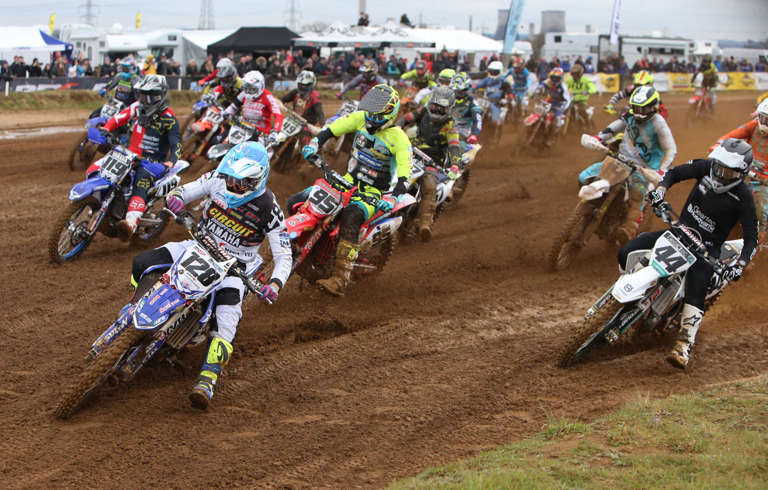 Ivo Monticelli leads the pack in the second MX1 moto