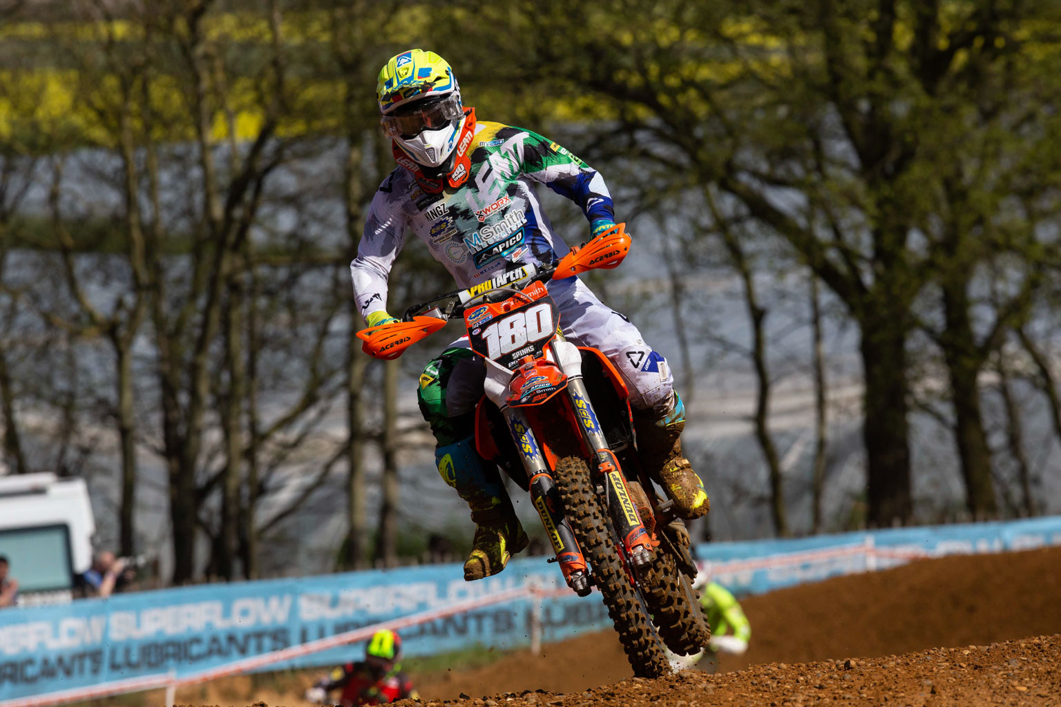 Fast-starting Spinks holeshot both motos
